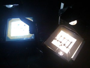 DARWIN X KÖLN - Two overhead projectors